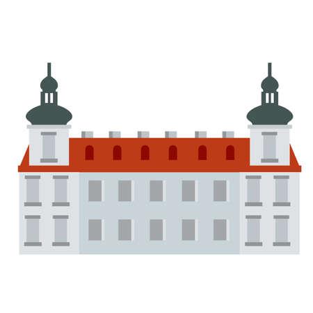Jesuit College. Old Medieval University. 矢量图像