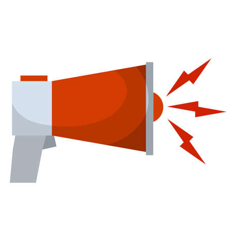 News icon. Important message in app. Loud sound. Flat illustration Vector Illustration