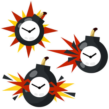 Time bomb. Deadline and hours. Dangerous situation. Business concept.
