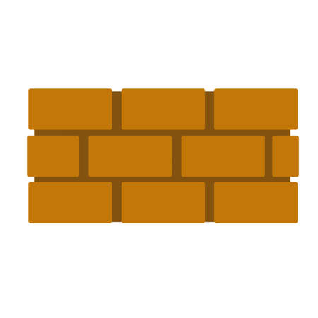 Brick wall.  Repair material. Cartoon flat illustration isolated on white background. Element of building construction