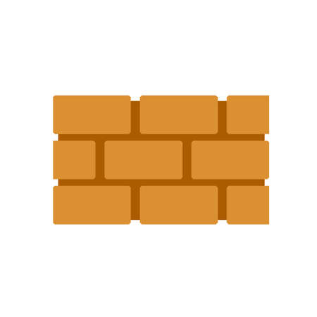 Element of building. Block and stone barrier. Vector flat illustration isolated on white 矢量图像