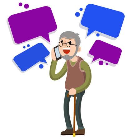 Flat cartoon Cloud text bubble dialog. Conversation and Talk.