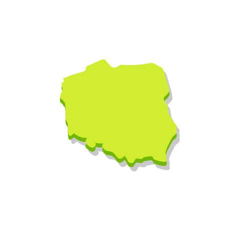 Map of Poland. National symbol of state. Eastern european. Flat cartoon