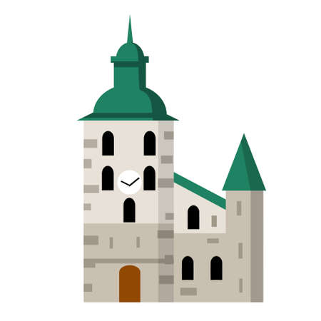 The Cathedral of Oslo. Lutheran Church. European architectural landmark. Building of the old medieval city.