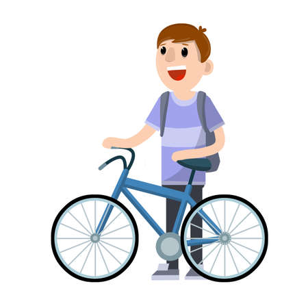 Summer activity. Hobbies and sports. Healthy lifestyle. Cartoon flat illustration. Summer season, movement and pastime. Urban transport.