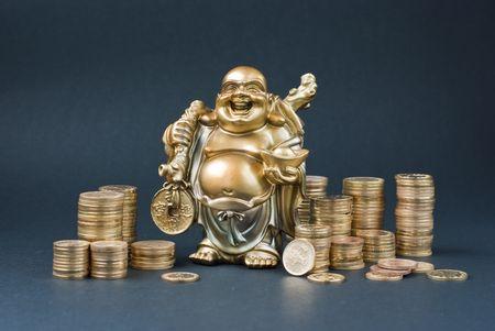 Golden statuette Stock Photo