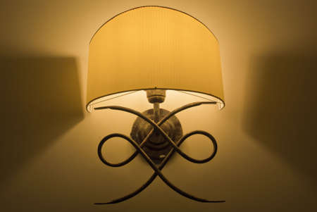 sconce: Lighted classic sconce Stock Photo