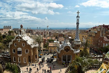 Barcelona, Spain - September 03, 2010 - Park Guell, part of the UNESCO World Heritage Site Works of Antoni Gaudi.