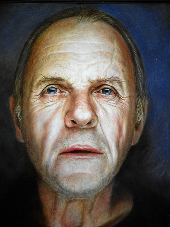Anthony Hopkins painted on a Billboard. Photo taken on: August 27th, 2011. Sofia, Bulgaria