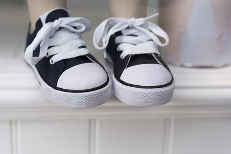 Baby black and white sneakers