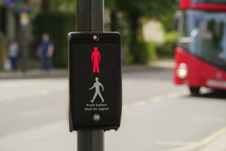 Traffic light on London street