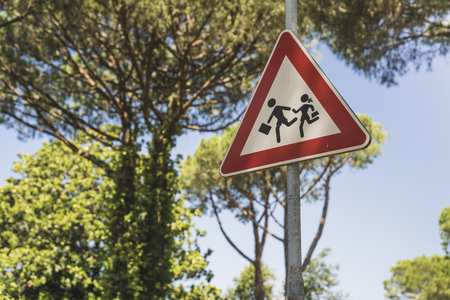 Attention children roadsign Zdjęcie Seryjne