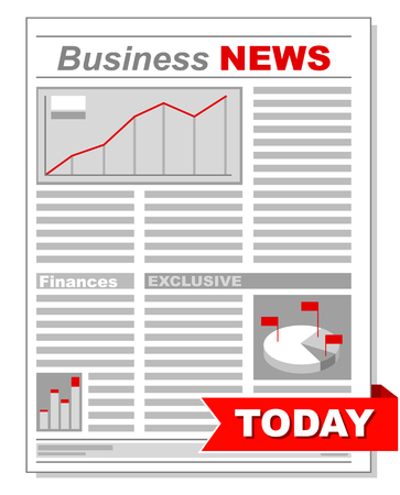 article marketing: A vector illustration of Fresh business newspaper with different diagrams Illustration