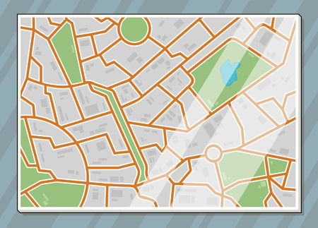 lake district: A vector illustration of texture city map illustration