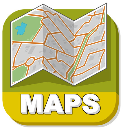 lake district: A vector illustration of map booklet on green background