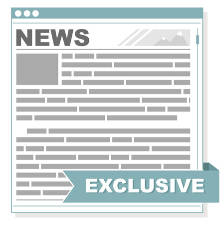 article marketing: A vector illustration of newspaper interface screen