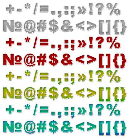 psd: A illustration set of Color different sign and symbols JPG