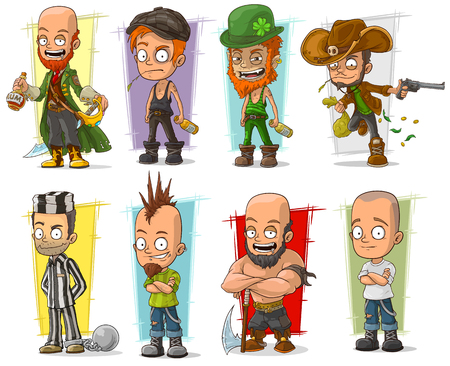 Cartoon cool funny different characters big vector set. Vol 5 Zdjęcie Seryjne - 81069296