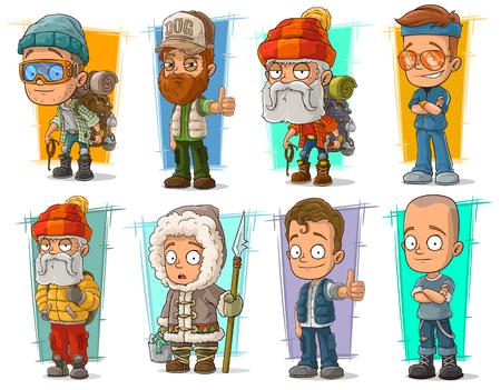 ranger: Cartoon cool funny different characters big vector set. Vol 9