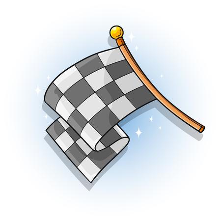 Cartoon color racing flag vector
