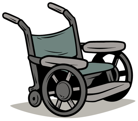 Cartoon metal wheelchair vector icon 写真素材 - 101850419