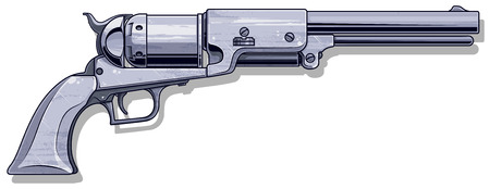 Graphic detalied old revolver