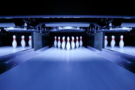 quille de bowling: quilles Banque d'images