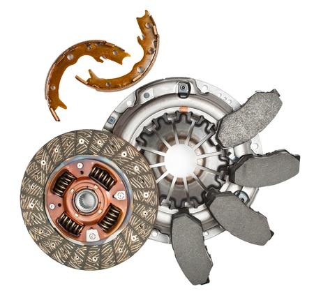 Auto-Teile isoliert auf weiß Standard-Bild - 10361272