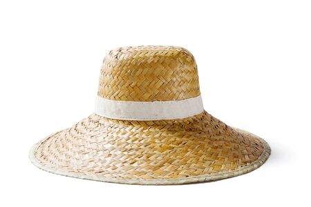 straw the hat: straw hat Stock Photo