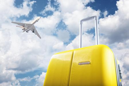 maleta y avión
