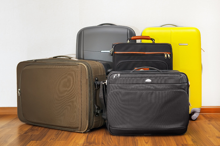 travel luggage: luggage bags Stock Photo