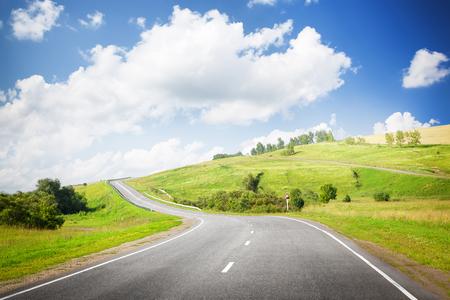 urban landscape: summer road Stock Photo