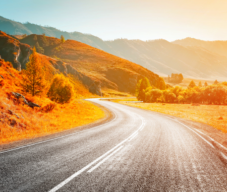 country highway: country highway Stock Photo