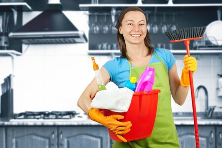 domestic staff: housework Stock Photo