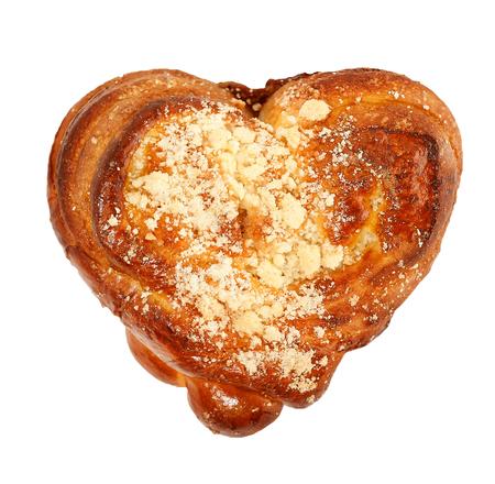 heart shaped sweet bun