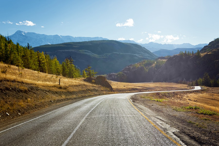 winding road: mountain road Stock Photo