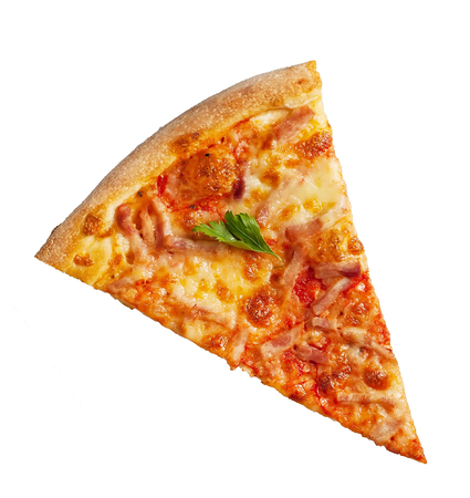 a portion: pizza portion Stock Photo