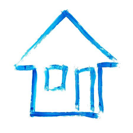 Haus-Zeichnung  Standard-Bild - 52610322