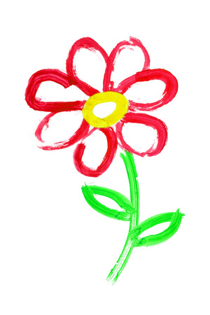 summer nature: flower drawing