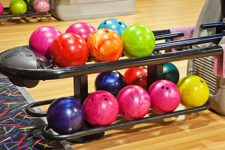 recreational pursuits: bowling balls Stock Photo