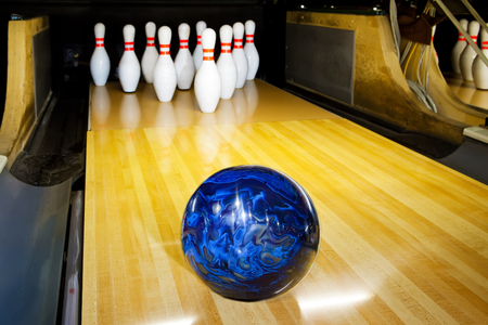 bowling alley: bowling Stock Photo