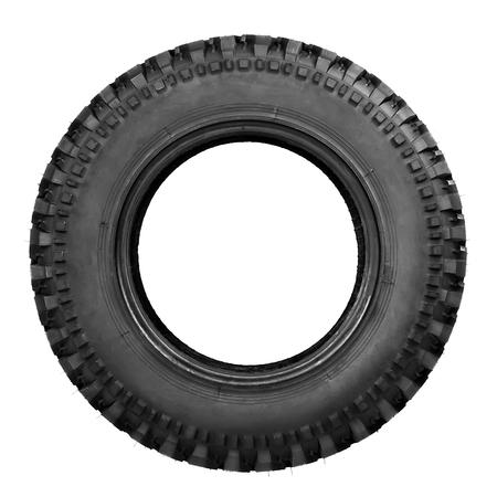 Reifen isoliert auf weiß Standard-Bild - 52610645