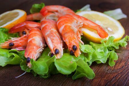 prepared shellfish: shrimps