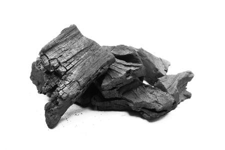 calorific: coal isolated on white Stock Photo