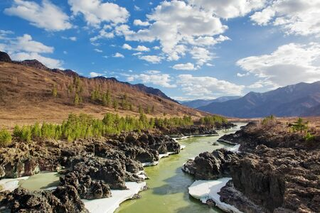 geological feature: mountain river Stock Photo