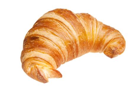 Croissant isoliert auf weiß Lizenzfreie Bilder