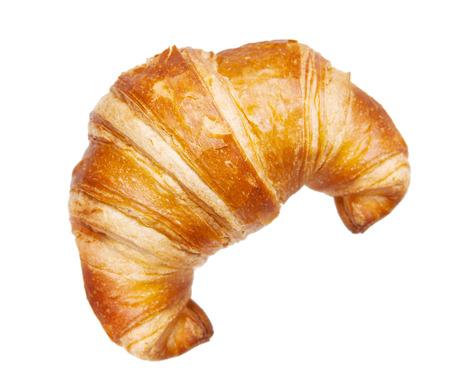 Croissant isoliert auf weiß Standard-Bild - 52610721