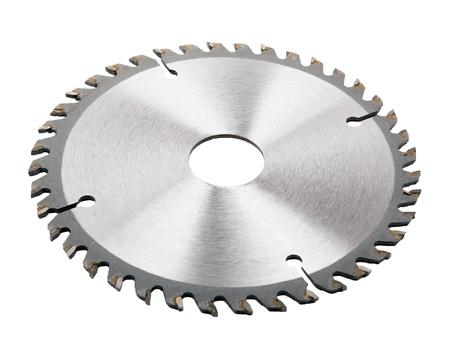 machine teeth: saw blade isolated on white