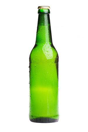 glass bottles: green beer bottle