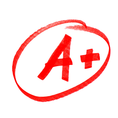 papier lettre: a +
